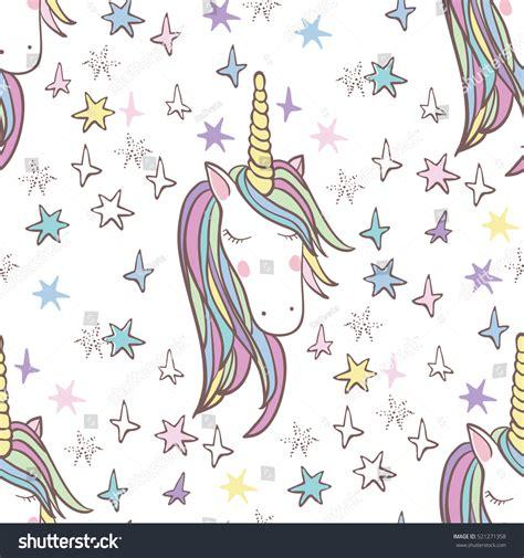 unicorn pattern paper unicorn rainbow seamless pattern girls scrapbook stock