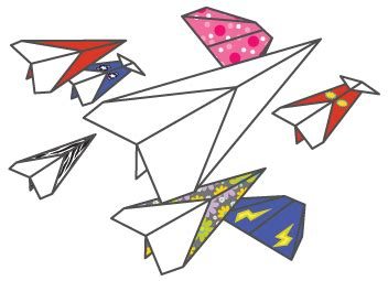 How To Make Your Own Paper Airplane - 17 best photos of easy printable paper airplane designs