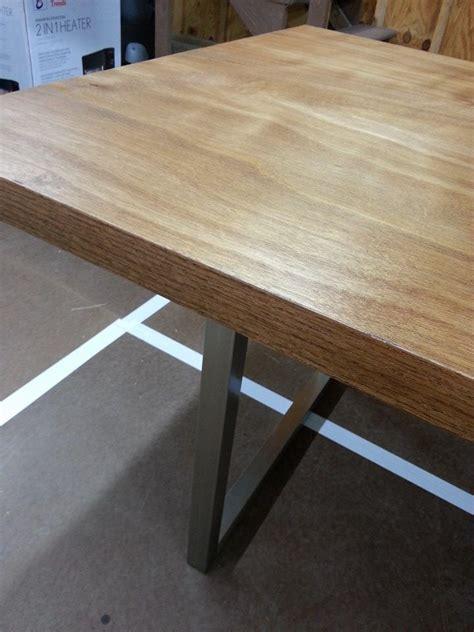 Solid Door Desk by Diy Desk 1 0 Detail Solid Slab Door With Iron On