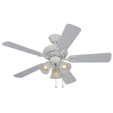 harbor ceiling fan with light shop harbor bellevue 44 in matte white multi