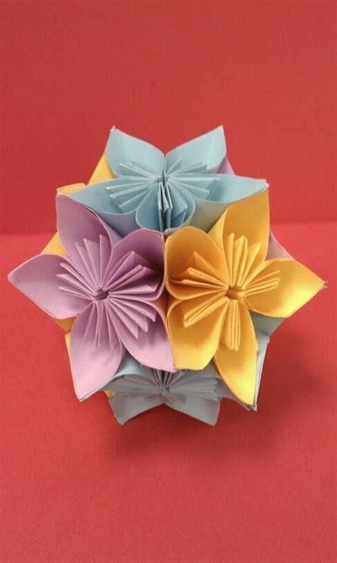 Fold Origami Flower - diy how to fold an origami kusudama flower arts