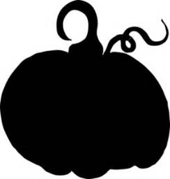 Decorated Skull Pumpkin Sihouette Clip Art At Clker Com Vector Clip Art
