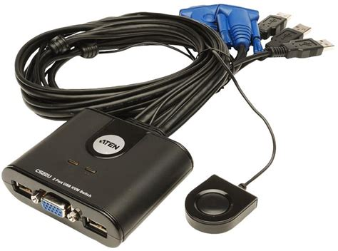 Aten Switch 2port Vs291 cs22u kvm switch 2 port usb cabled aten aten technology