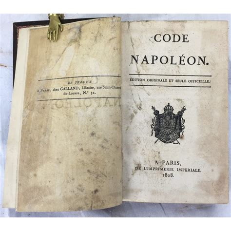 the code napoleon or the civil code literally translated from the original and official edition published at in 1804 classic reprint books code napoleon conforme a l edition originale de l