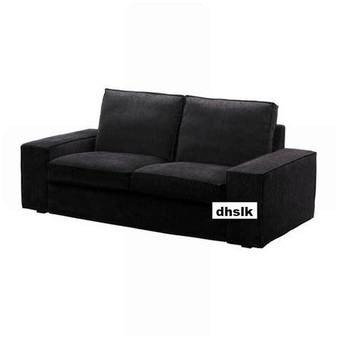 sofa cover black ikea kivik 2 seat sofa slipcover loveseat cover tranas