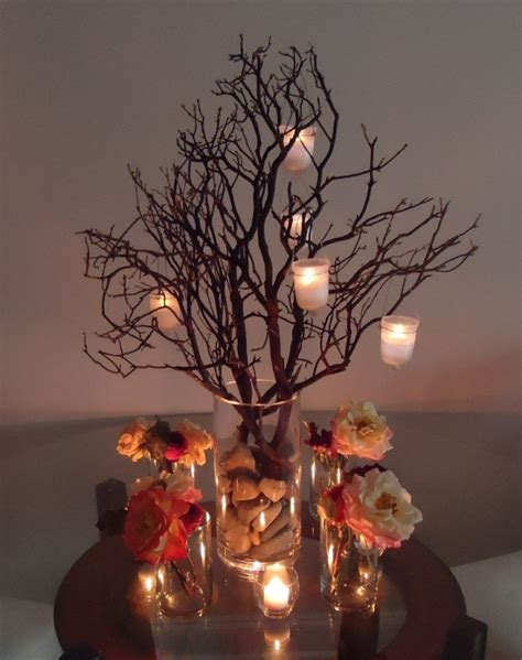 manzanita branch centerpieces enough for 15 tabl