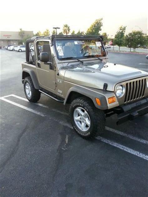 2005 Jeep Wrangler 4 Door Find Used 2005 Jeep Wrangler X Sport Utility 2 Door 4 0l