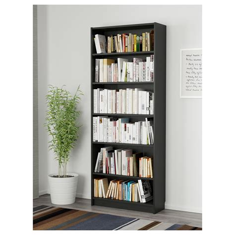 ikea billy bookcase measurements billy bookcase black brown 80 x 28 x 202 cm ikea