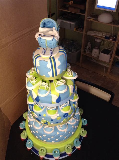 Green Baby Shower Cake by Blue And Green Baby Shower Cake Cakecentral