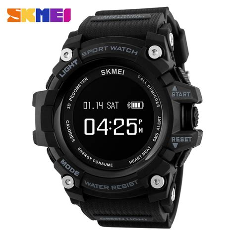 skmei jam tangan sporty smartwatch bluetooth 1188 black jakartanotebook