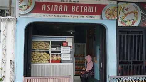 Rak Jajanan Warung asinan kamboja ini dia asinan sayur dan buah khas betawi