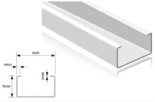 c stud section drywall steel sections
