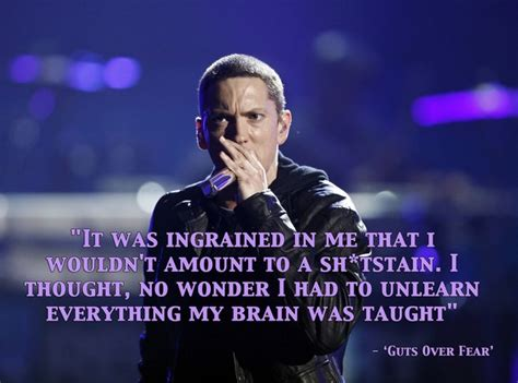 eminem believe lyrics quot no wonder i had to unlearn everything my brain was taught