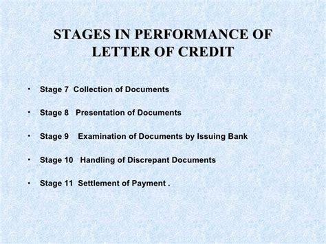 Letter Of Credit Discrepant Documents Letter Of Credit
