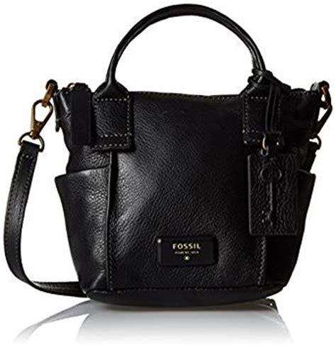 Fossil Emerson Satchel Black Large fossil emerson mini satchel bag black one size handbags