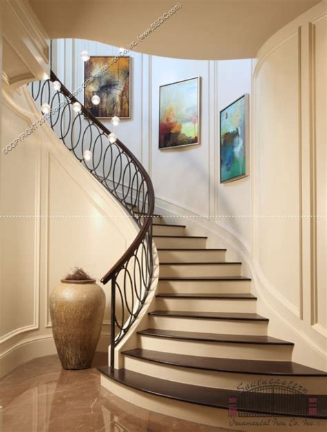 stair decor wrought iron stair railing southeastern ornamental iron