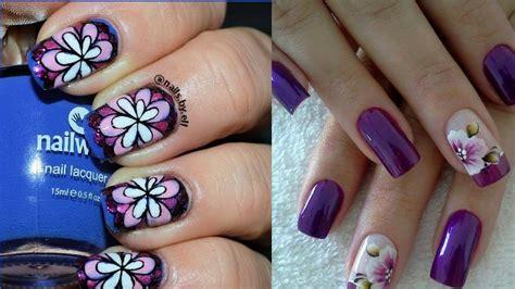 Easy Nail Art One Stroke | nail art flowers 2017 easy one stroke nail art the gel