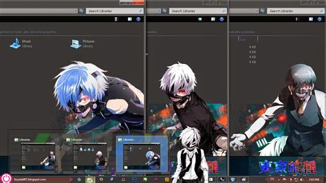 themes for windows 7 tokyo ghoul theme win 7 tokyo ghoul by irsyada007