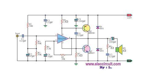 transistor tip 41 tip 42 30w otl by tda2030 transistor eleccircuit