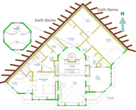 earth bermed home designs home plans for a passive solar earth sheltered home at