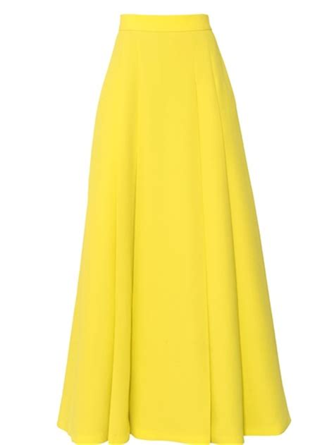 fausto puglisi high waisted viscose cady skirt in