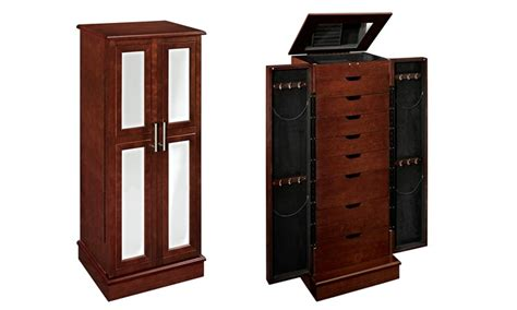 Groupon Jewellery Cabinet by 2 Door Mirrored Jewelry Armoire Groupon Goods