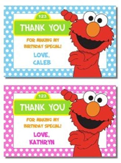 elmo thank you card template elmo birthday invitations thank you note cards labels