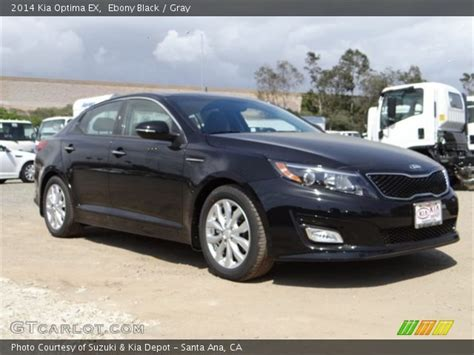 Black 2014 Kia Optima Black 2014 Kia Optima Ex Gray Interior