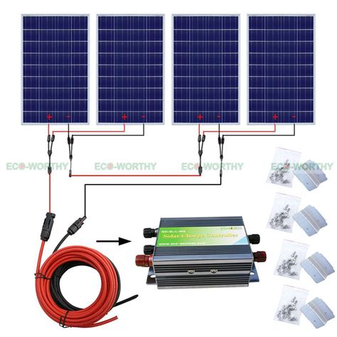 400w solar panel complete kit home system for 24v rv pv