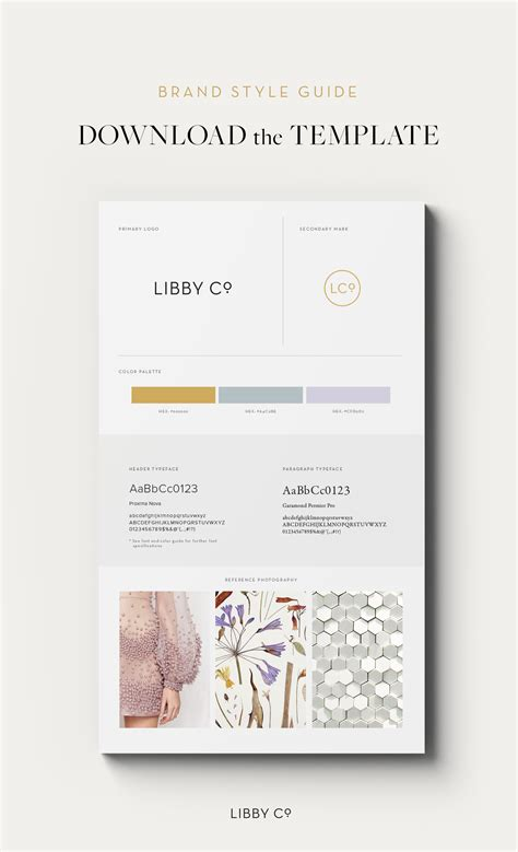 Free Brand Style Guide Template Libby Co Boutique Brand Style Guide Template