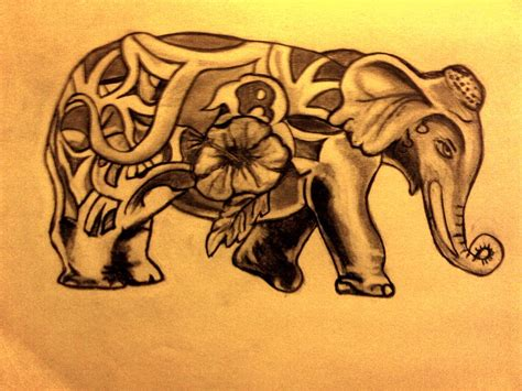 hindu elephant tattoo designs indian elephant designs