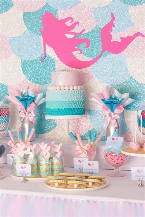 mermaid themed decorations mermaid in the themed birthday via kara s