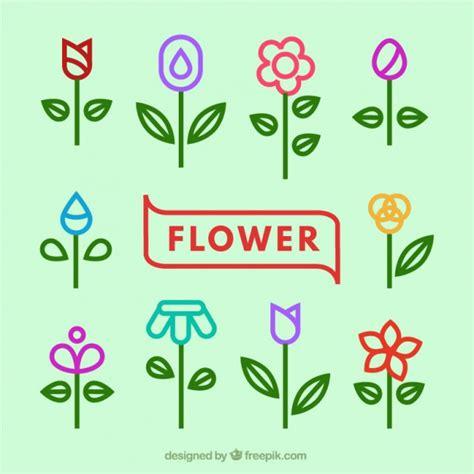 variet 224 di icone di fiori scaricare vettori premium