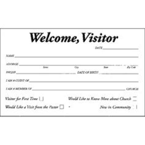 visitor card template software 1000 images about pew cards on welcome card