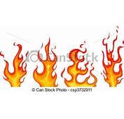 Vector Clip Art Of Flames  Set