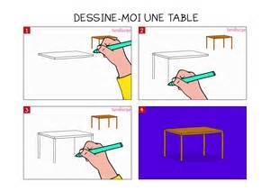 apprendre 224 dessiner une table en 3 233