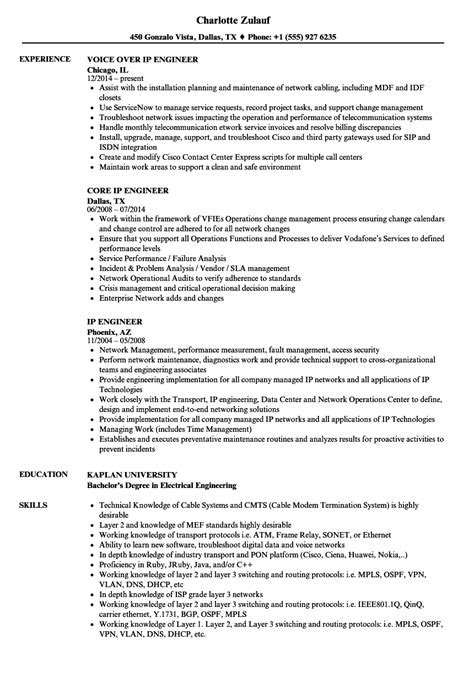 Cisco Voip Engineer Cover Letter by Cisco Voip Resume Exles Personal Banker Resume Objective Resume Nanny Experience Follow Up
