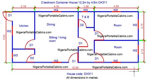 Bungalow Floorplans by Shipping Container Homes Nigeria Buy Affordable Shipping