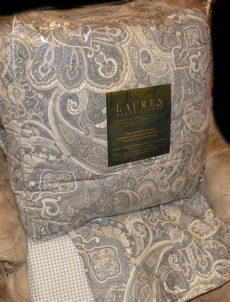 ralph lauren coral beach black paisley king comforter set