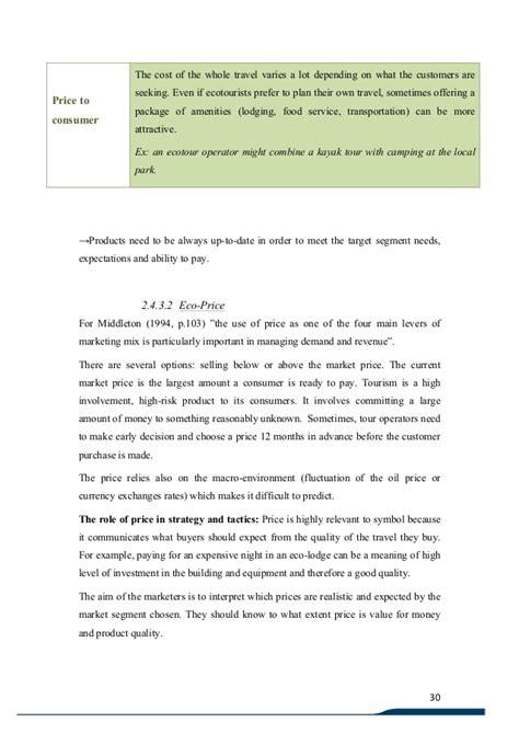 tourism dissertation exles ph d thesis on ecotourism