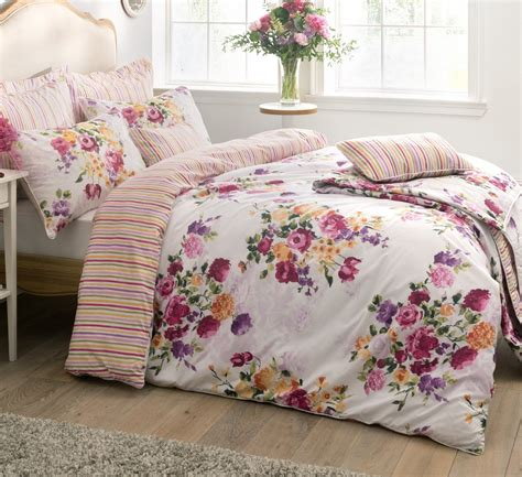 Bed Cover Bonita 180 floral percale quilt duvet cover pillowcase bedding bed sets 180 tc striped ebay