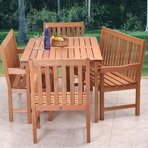 outdoor dining bench amazonia milano 5 piece patio dining set bt bench set