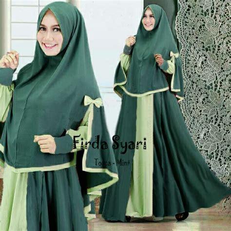 Baju Syari Muslim Wanita Havva Tunik Atasan Maxi Blouse Tunik model baju gamis syari warna tosca terbaru baju gamis
