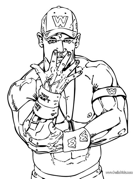 Wwe Wallpapers Wwe Superstar John Cena Wrestler Coloring Pages