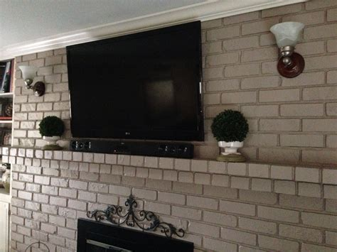 tv mount for brick fireplace yes you can mount your tv to your brick fireplace without