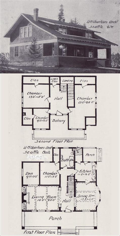 old home plans early 1900 bungalow house blueprint plan how to build plans