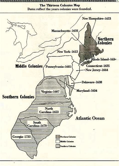 southern colonies map the southern colonies