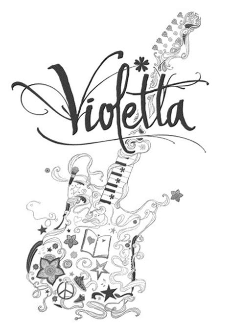 coloring pages disney violetta coloring page violetta 7