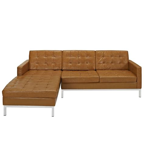 bateman leather left arm sectional sofa modern furniture