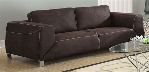 chocolate brown suede sectional chocolate brown contrast micro suede sofa from